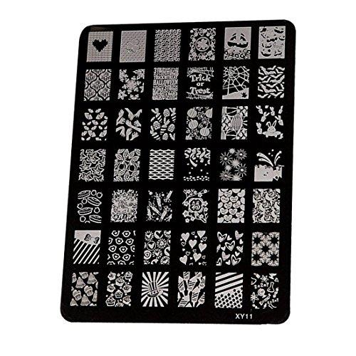TOOGOO estampage de plaque d'impression d'image a ongles , couleur de l'acier XY11