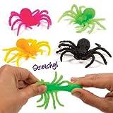 Baker Ross Stretch-Spinnen in bunten Farben für Kinder zum Spielen, toll als Mitgebsel und zu Halloween - (12 Stück)