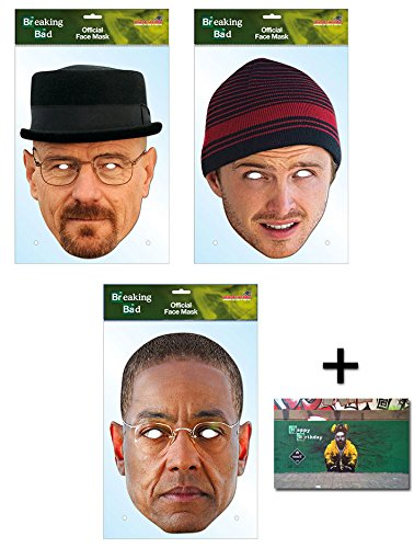 Breaking Bad Variety Karte Partei Gesichtsmasken (Maske) Packung von 3 - Enthält 6X4 (15X10Cm) starfoto