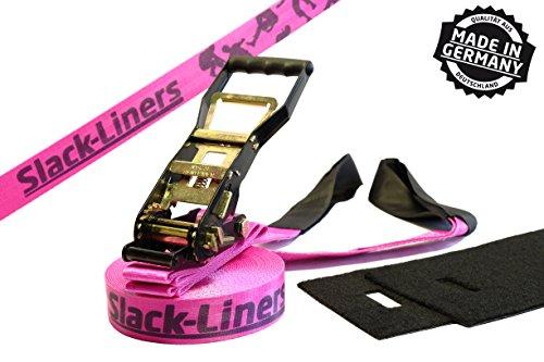 Slack-Liners Set, 25 m lang, 5 cm breit + Baumschutz