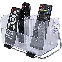 Supporto per telecomando, colore acrilico trasparente custodia telefono Storage Box Desktop/accessori da scrivania Tidy Organizzatore/Mini cosmetici contenitore