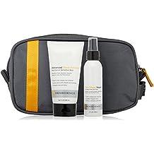 MenScience Men's Skin Care Shave Kit: Shaving Cream Gel, After Shave Balm, & Toiletries Bag