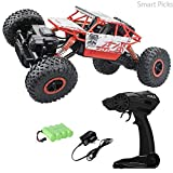 Smart Picks 1:18 Rechargeable 4Wd Rally Car Rock Crawling R/C Monster Truck (Red)