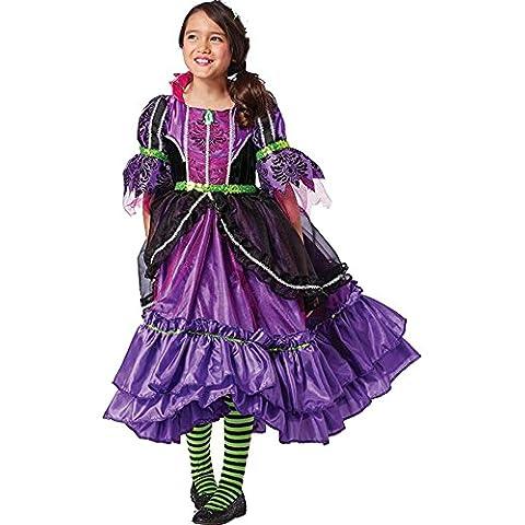 Deluxe Premium vestido Bruja niña Carnaval Halloween 104–122