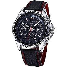 MEGIR Reloj de Pulsera de Hombre Cuarzo de Marca Reloj de Reloj Impermeable Reloj Deportivo de Lujo