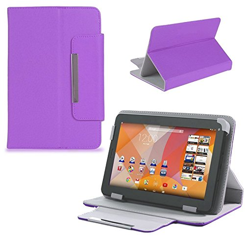 Schutz Tasche f Medion Lifetab S7322 Junior Tablet Hülle Schutzhülle Cover Case , Farben:Lila