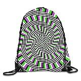 Drempad Tunnelzug Rucksäcke, Drawstring Bags Self-Moving Unspirals Drawstring Shoulder Backpack Lightweight Sports Gym Bag Sneaker Bags