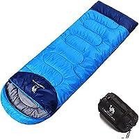 CAMEL CROWN Saco de Dormir, Equipo de Herramientas para Acampar al Aire Libre para Caminar 3 Estaciones al Aire Libre, componer en un Saco de Dormir Doble, con un Saco de compresión liviano