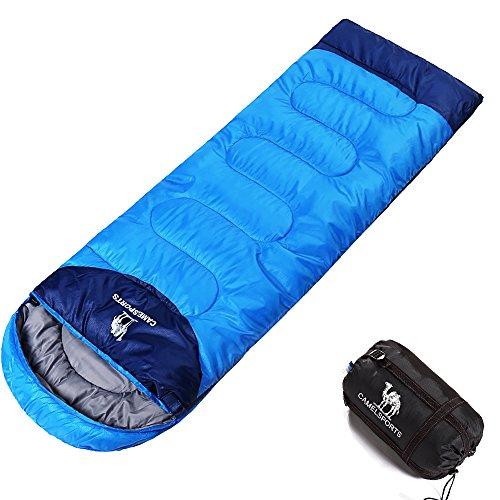 Camel crown sacco a pelo portatile combinato doppio sacco a pelo con leggero sacco a compressione outdoor escursionismo camping gear bambini uomini donne 3 stagioni