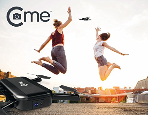 C-me 20050 - Die fliegende Selfie-Kamera für Full HD-Videos und 8-MP-Fotos, fliegende Selfie-Cam mit GPS-Unterstützung, zusammenfaltbar, einfach per Smartphone fliegen, filmen und sofort teilen, schwarz - 2