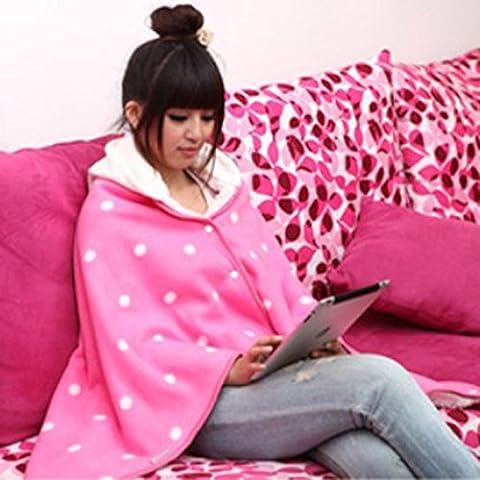 Mantelle-stile creativo mutandoni mettere aria condizionata in coperta di corallo del panno morbido, regali di compleanno romantico,Color caffè