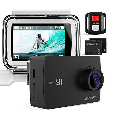 YI Discovery 4K Action Camera da Telecomando Impermeabile Fotocamera con 2 Batterie Sport Cam Grandangolare di 150° con Sensore di Immagine Sony