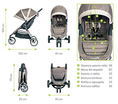 Baby Jogger City Mini Single Stroller Steel Grey Baby Jogger Suitable from birth, the City Mini Stroller is the essence of urban mobility: Lightweight, compact and nimble, its sleek and practical design makes it an ideal choice for traversing the urban jungle Lift a strap with one hand and the City Mini folds itself: Simply and compactly, it really is as easy as it sounds and the auto-lock will lock the fold for transportation or storage The fully reclining with vents and a retractable weather cover to make sure that your child is comfortable and safe as they watch the world go by the SPF 50+ hood canopy has two peek-a-boo windows so you can keep an eye on your precious cargo 10