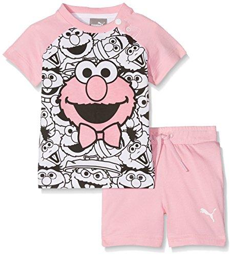 Puma Kinder Sesame Street Infant Set Babyset, Prism Pink, 80 (Shorts Baumwolle Knit Jersey)