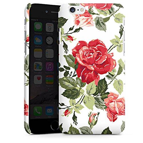Apple iPhone X Silikon Hülle Case Schutzhülle Rosen Frühling Blüten Premium Case matt