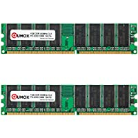 QUMOX 2GB (2X1GB) DDR DIMM (184 PIN) 400Mhz PC3200 CL
