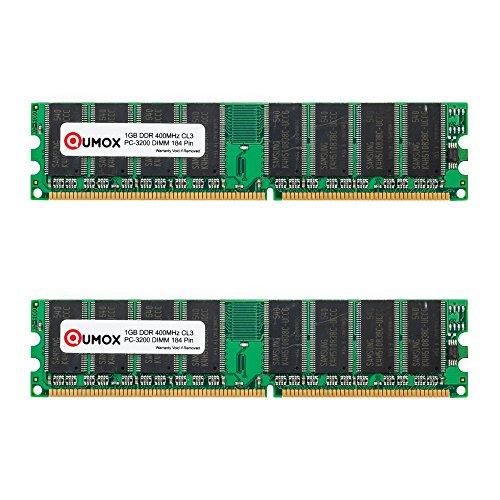 Pc-3200 Dual-channel-speicher (QUMOX 2GB (2X1GB) DDR DIMM (184 PIN) 400Mhz PC3200 CL 3.0 DESKTOP SPEICHER)