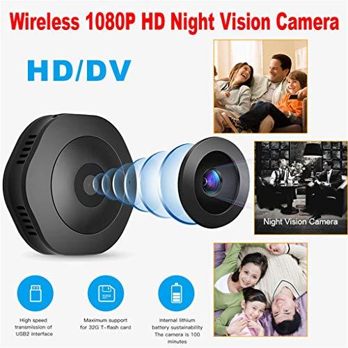 htfrgeds Mini Hidden Spy Camera - 1080P HD - Bewegungserkennung - Nachtsicht - Lange Akkulaufzeit - Ideale Überwachungskamera, Body Cam, Nanny Cam, Action Camera H6-DV