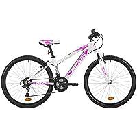 """Mountain bike da donna Atala RACE COMP 26"""", colore bianco / fuxia, indicata fino ad un'altezza di 175cm"""