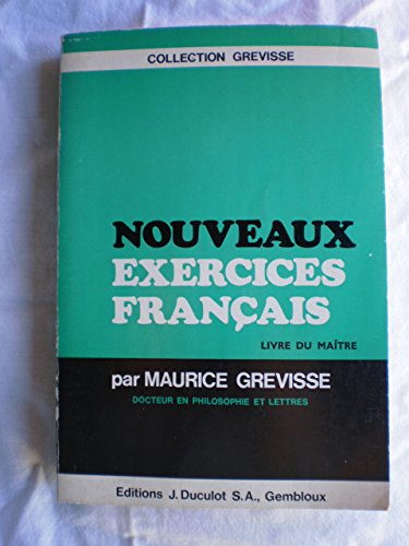 Nouveaux exercices de francais par Grevisse