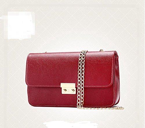Nuova borsa catena coreana borse diagonali, signora del messaggero di modo, borsa a tracolla red