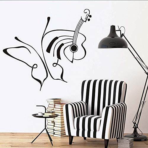 wukongsun Kreative Zeichnung Linie Kunst Schmetterling und Schnur wandaufkleber Dekoration Vinyl wandtattoo abnehmbare Wohnzimmer 66 cm x 61 cm