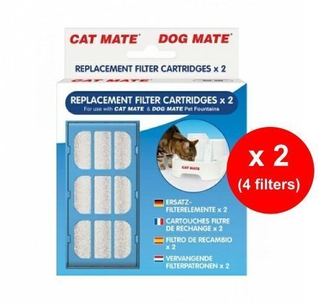 Pet Mate Replacement Filter Cartridges - Pet Fountain x 2 Filters - Twin Pack (4 Filters Total) 1