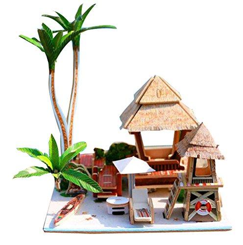 Blancho [Bali Island] 3D Puzzle Papiermodell Zusammengebautes Kabinenhaus Spielzeug Diy