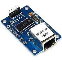 Lorenlli Mini ENC28J60 Módulo de Servidor Web Placa de expansión Ethernet Shield para Arduino Nano v3.0 Top con Ranura para Tarjeta Micro SD