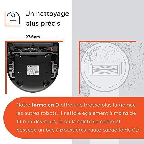 51QPY8-SnOL [Bon Plan Neato] Neato Robotics D701 Connected - Compatible avec Alexa - Robot aspirateur avec station de charge, Wi-Fi & App