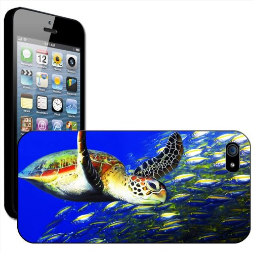 Tortues Coque arrière rigide détachable pour Apple iPhone modèles, plastique, Turtle In Deep Blue Water, iPhone 6 Plus Sea Turtle