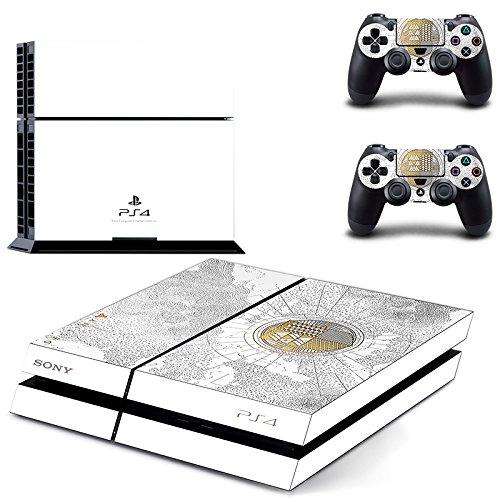 Adventure Games PS4 Original - Destiny Spec. Ed. Playstation 4 Vinyl-Konsolen-Aufkleber und 2 Controller-Skins Set - Konsole Playstation 4 Destiny