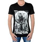 ELEVEN PARIS - T-Shirts mit Rundhalsauschnitt - Herren - Schwarzes T-Shirt Atigrou für herren - XL