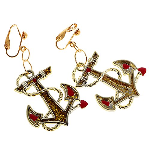 Anker Ohrring Dame Marine Seemann Piraten Kostüm Zubehör (Seemann-kostüm Für Frauen)