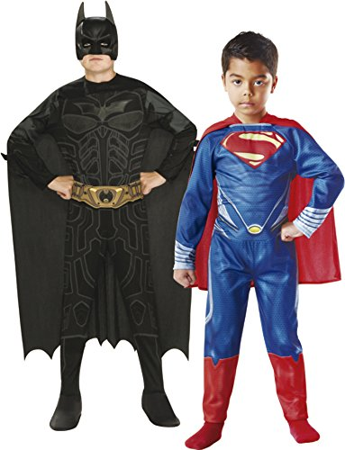 Imagen de rubie's  pack 2 disfraces batman y superman, para niños, talla m 154994 m  alternativa