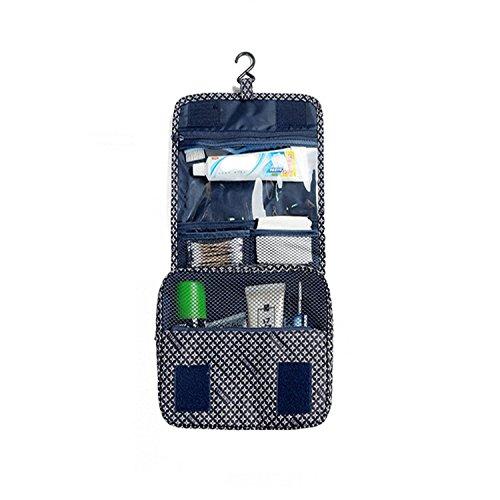 Freesoar Portable Hang Reise-Kulturbeutel Organisieren Kosmetik Frauen Make-up Outdoor-Kit mit Hängen Haken (blauer Stern) (Tragen Leder Tumi)