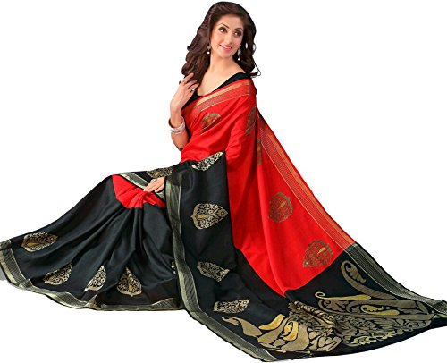 Women's Clothing Saree Today best offers buy online in Low Price Sale Designer Multi Color Art Silk Fabric Free Size Ladies Sari With Blouse Piece  available at amazon for Rs.255