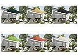 Marken Sonnensegel Sonnenschutz Rechteck rechteckig viereckick 2×4 m Creme - 5