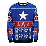 Noorhero - Felpa Uomo - Capitan America Christmas