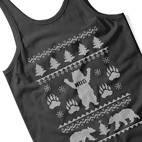 Bear Hug Christmas Knit Men's Vest Black