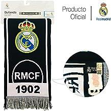 Real Madrid C.F. Bufanda DE Producto Oficial Real Madrid (RMCF 1902 Negro  2019) eda7b7296e048