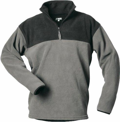CRAFTLAND Fleece Shirt MERLIN - grau/schwarz abgesetz - Größe: L