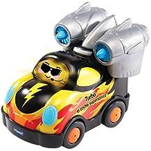 Tut Tut Bólidos - Turbo el coche supersónico, furgoneta interactiva compatible con el resto de la colección, incorpora música, canciones y frases que fomentan el aprendizaje (VTech 3480-143867)
