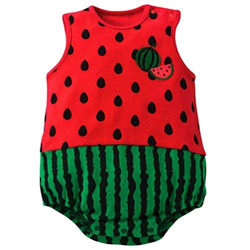 Waboats Baby Mädchen Jungen Karikatur Tier Sleeveless Spielanzug Bodysuits 6M (Boy Month Halloween Kostüme 6)