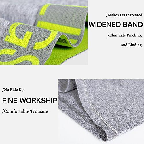 Herren Boxershorts Unterhose Grau Baumwolle Männer Unterwäsche ,3er Pack, S M L XL XXL B:Mehrfarbig