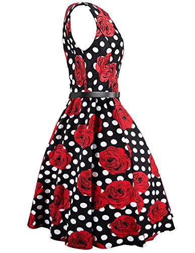 iPretty Robes Vintage 1950's Audrey Hepburn robe de soirée cocktail, bal style années 50 Rockabilly Swing Robe Femmes STYLE-4