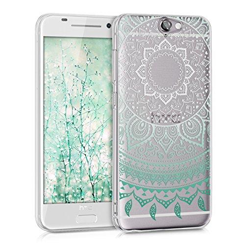 kwmobile HTC One A9 Hülle - Handyhülle für HTC One A9 - Handy Case in Mintgrün Weiß Transparent