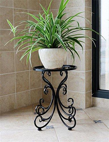 LB Fer à repasser à une seule étage Pot à fleurs, étagère à fleurs pour balcon, intérieur Étagère de pot de montage ( couleur : A )