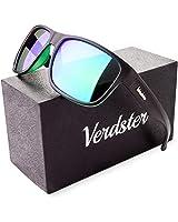 Occhiali da sole POLARIZZATI da Uomo & Donna Verdster - Ideali per Guidare - Montatura Confortevole con Protezione UV - Custodia, Astuccio & Pezzolina Inclusi