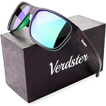 Verdster Occhiali da sole Polarizzati da Uomo & Donna Ideali per Guidare - Montatura Confortevole con Protezione UV - Custodia, Astuccio & Pezzolina Inclusi